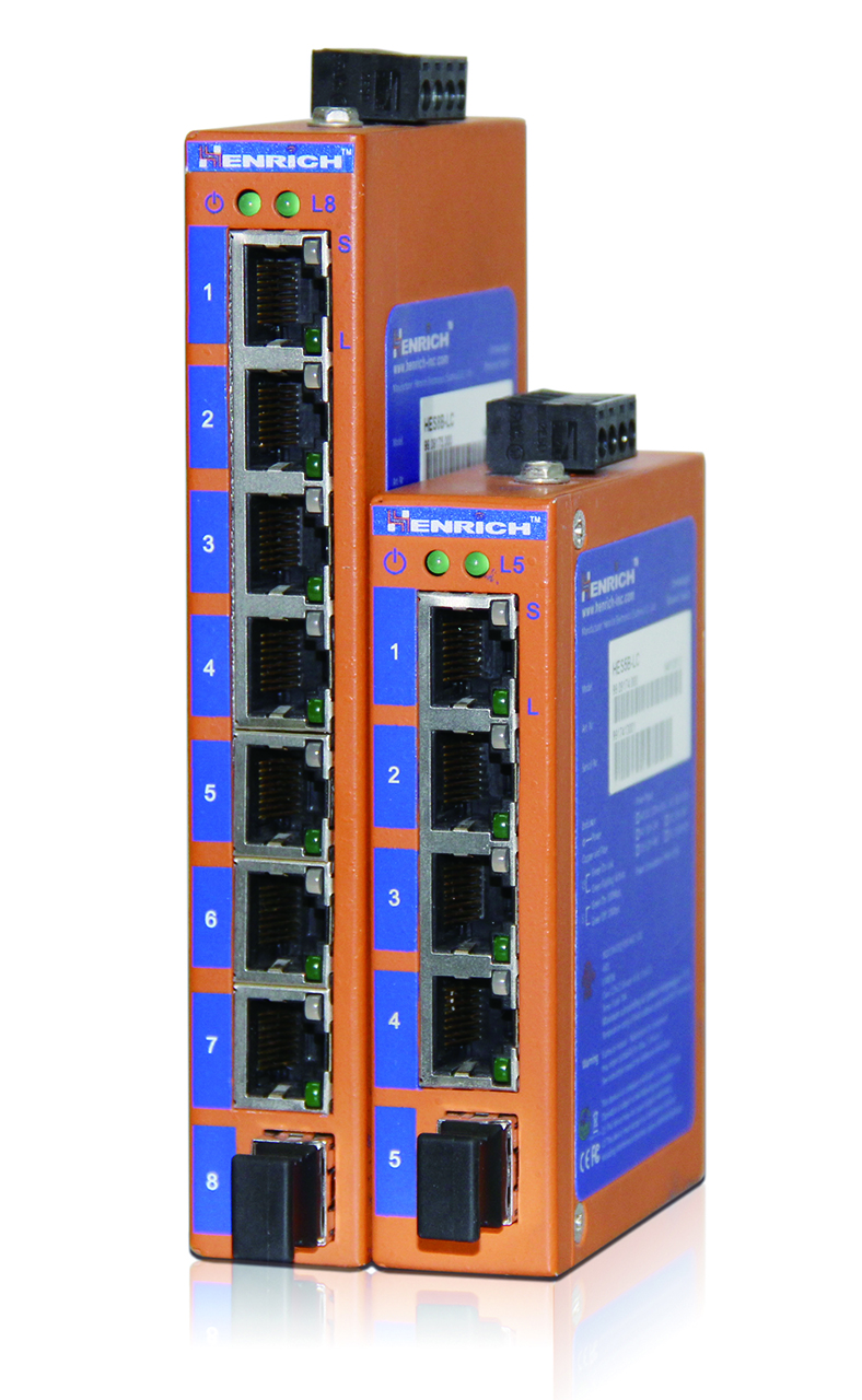 HES5B/8B Series 5 and 8-port Entry-level Unmanaged Ethernet Switches